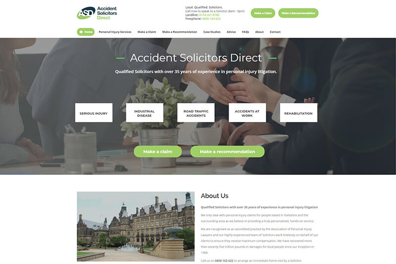 Accident Solicitors Direct in Sheffield