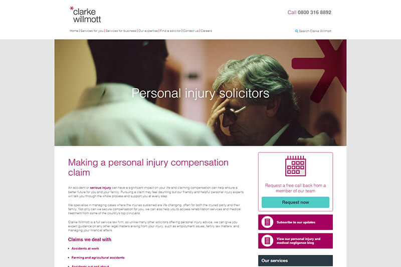 Clarke Willmott Injury Lawyers UK