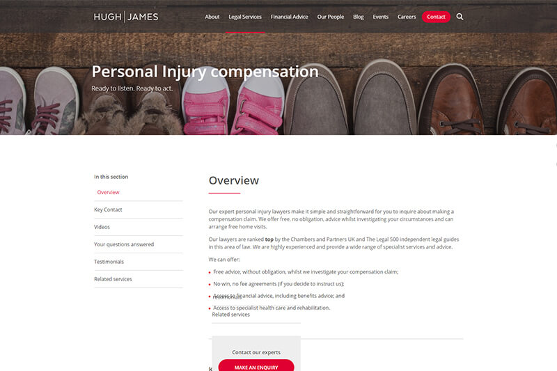 Hugh James compensation solicitors in Cardiff