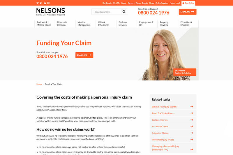 Nelsons Law UK compensation claims solicitors
